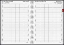 BRUNNEN Buchkalender 2019 1T=1S A4 Praxiskalender Spiralbindung Kalender 7896090