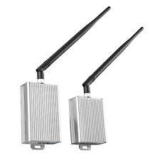4 CH Wireless 2.4GHz CCTV Audio Video AV Signal Transmitter Receiver 500m