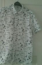 Men's Hawaiian Shirt Size M By H&M 100%Cotton