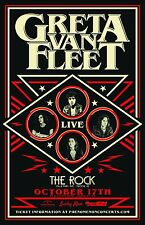 "GRETA VAN FLEET ""LIVE"" 2017 TUCSON CONCERT TOUR POSTER - Hard/Classic Rock Music"