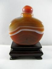 Snuff bottle in Agata Naturale con  Noduli e Striature, H. Cm.6,4 , Peso Gr.118