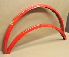Vintage NOS Phillips Nottingham Raleigh Bicycle Red Fender Set Made in England