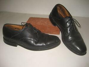 Allen Edmonds Troy Shoes Black Leather Oxfords Mens Sz 9 D