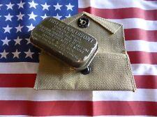 pochette pansement + boite métal verte US WW2 FIRST AID PACKET  ( Airborne JEEP