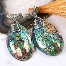 1x Mother Of Pearl Abalone Shell Bead Pendant For Charm Necklace Women Jewellery