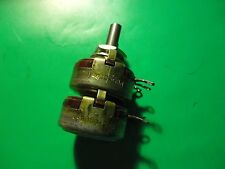 1PC. DUAL ALLEN BRADLEY POT 600 OHM / 2K LINEAR 2WATT TYPE J POTENTIOMETER