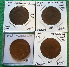 Australia 1//2 Penny 3 Different Dates KM41,42