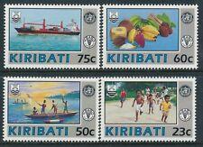 1992 KIRIBATI W.H.O. & F.A.O. ANNIVERSARY SET OF 4 FINE MINT MNH