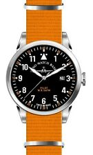 Zeno-Watch Basel Swiss Made Pilot Navigator Nato Quartz black nylon saphirglas