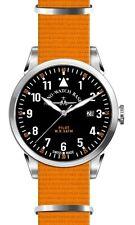 Zeno-watch Basilea swiss made piloto Navigator otan Quartz Black nylon cristal zafiro