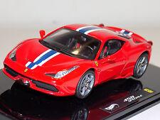 1/43 Mattell Hot Wheels Elite 2013 Street Ferrari 458 Speciale BLY45