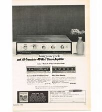 1963 Heathkit AJ-43 AM Fm Stereo Tuner AA-21 Amplifier Hi-Fi Vtg Print Ad