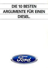 Ford Diesel Prospekt 1/84 brochure 1983 Auto PKWs Deutschland Autoprospekt