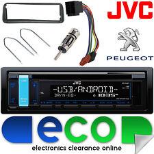 Peugeot 206 CC JVC CD MP3 USB AUX RADIO estéreo de coche & Kit De Montaje De Panel Fascia