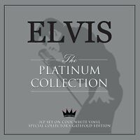 ELVIS THE PLATINUM COLLECTION NEW 3 LP WHITE VINYL COLLECTORS EDITION BEST OF