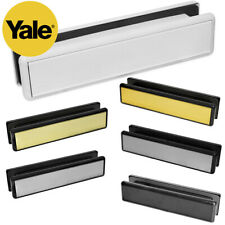 """YALE 10"""" & 12"""" Inch Letter Box Plate Set UPVC Double Glazing Wooden Door Welseal"""