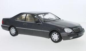 Mercedes 600 SEC (C140), metallic-anthrazit, 1:18, KK Scale