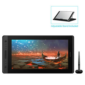 HUION KAMVAS PRO 16 Stand 15.6'' Graphic Drawing Monitor Pen Display+Touch Bar