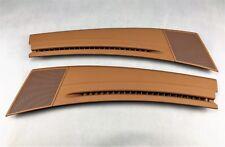 Porsche Cayenne 955 957 defrosterblenden Havane Leather Defrost Blinds OEM New