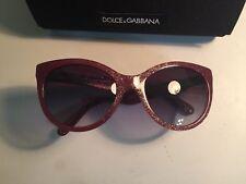 c3365ffe466f DOLCE   GABBANA DG 4192 2739 8G Red Glitter Gray Grad Cateye Sunglasses NWC  AUTH