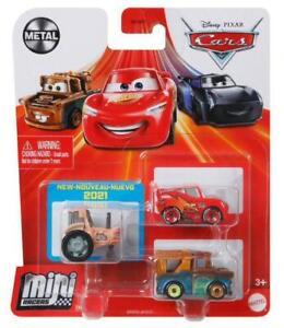 Disney Pixar Cars Mini Racers 3 Pack - Tractor Tippin Series 2021