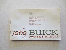 Original 1969 Buick owner's manual - Special & Skylark & Gs 350 & Gs 400 cars