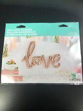 "Rose Gold ""LOVE"" Script Shape Wedding Anniversary Foil Balloon"