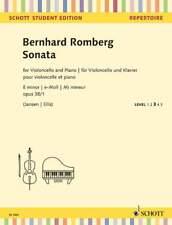 Sonata E menor Op. 38/1 Romberg, Bernhard violonchelo y piano 9790001161978