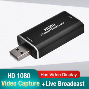 HDMI Video Capture Card USB 2.0/1080p HD Recorder for Video Live Streaming/Game