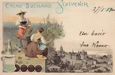 C007) CACAO SUCHARD, SOUVENIR LAUSANNE (SVIZZERA). VIAGGIATA.