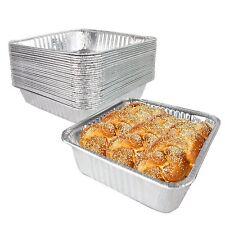 [33 Pack] Square Foil Pans 8 inch - Aluminum Cake Pan/Baking Pans