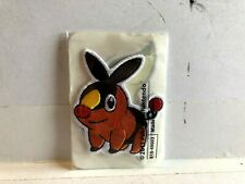 "Pokemon Tepig Patch 2.5""x2"" Sticky Back Unused Oem Game Freak Nintendo 2011"