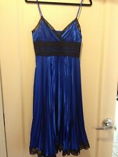 Betsey Johnson Electric Blue Slip Dress Size 6