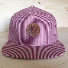 SUPREME ROMA PIN STRIPE RED HAT LEATHER STRAP CHAMBRAY SELVEDGE CRUSHER BOX LOGO
