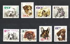Chiens Pologne (26) série complète de 8 timbres oblitérés