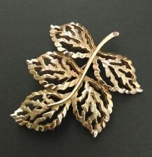 1960 S cade l'Autunno Oro Placcato Foglia SARAH COVENTRY COV Spilla Gioielli