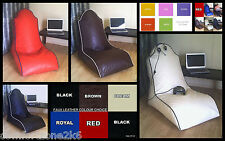 FAUX LEATHER BEANBAG COMPUTER GAMES TV CHAIR bean bags - 10 cols - gaming seat