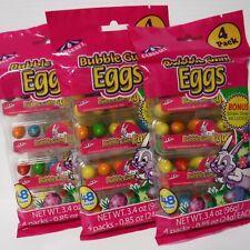 New listing Lot 3 x Carousel Bubble Gum Eggs, 48 Pcs., 4 Pack With Bonus Stickers Inside
