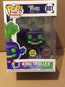 Funko Pop! Movies: Trolls - King Trollex (Glows in the Dark) Vinyl Figure #881