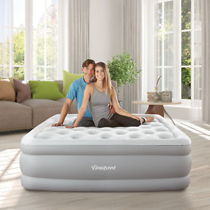Raised Camping/Home Air Mattress Hands-free Express Pump Ergonomic Support