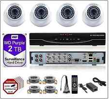 8CH  2MP 1080P 5in1 DVR, 2MP AHD CCTV Security Camera System Dome Kit 2TB WD HDD