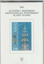 Aland 1985 Jahreszusammenstellung Briefmarken