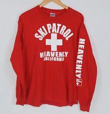 Vintage Ski Patrol Heavenly California Mens L Long Sleeve T-shirt Red