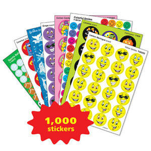 1000+ Praise & Reward Stickers Variety Pack - Scented, Foil, Stars and more