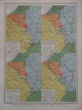 GREAT WAR MAP GERMAN ADVANCE & RETREAT 1914 - 1918 WW1 WWI