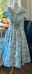 Vintage Style Dress Size 16 Blue