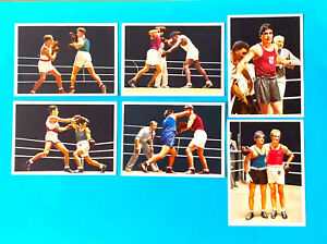 Olympics Berlin 1936 Boxer Boxing Lot of 6 cards Sidol Germany 1936