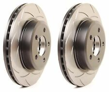 DBA REAR SLOTTED STREET BRAKE ROTORS PAIR FOR 2004-2007 SUBARU IMPREZA WRX STI