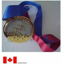 1994 Lillehammer Olympic 'Gold' Medal with Silk Ribbon & Display Stand !!!