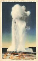 Postcard Old Faithful Geyser Yellowstone National Park Wyoming